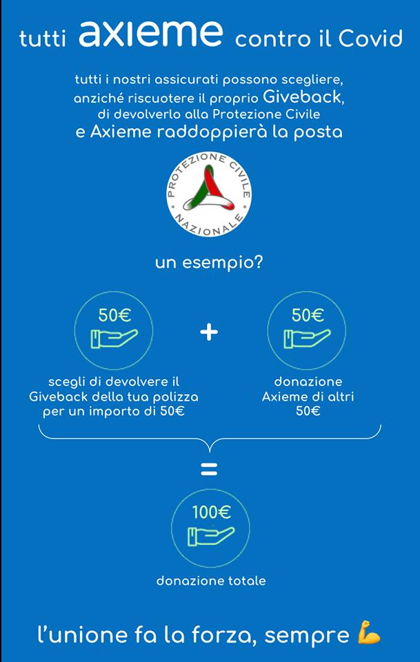 #Giveitback #iorestoacasa donazione Protezione Civile